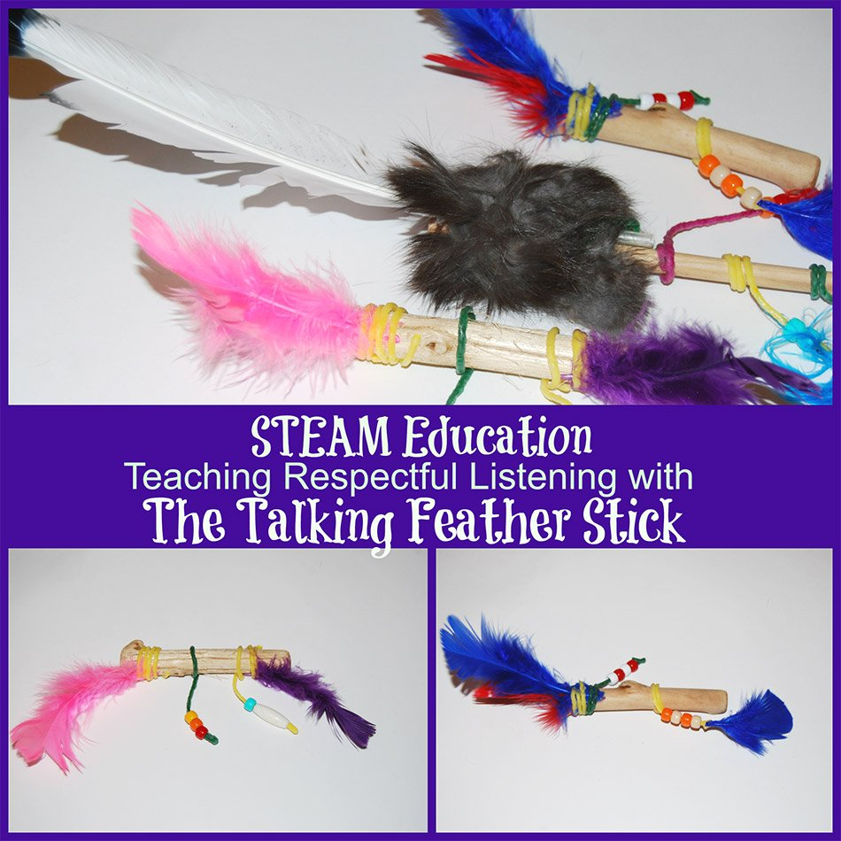steam education respectful listening talking feather stick challenge wikki stix. Black Bedroom Furniture Sets. Home Design Ideas