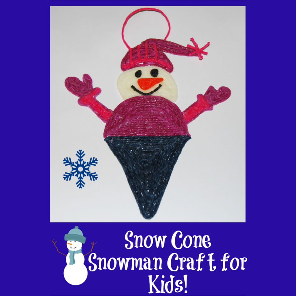 Snow Cone Snowman Craft for Kids!