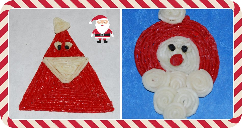 Wikki Stix Shape Santa Crafts for Kids!