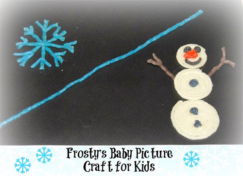 Frosty's Baby Picture and Snowman Craft for Kids!