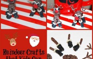 Miniature Reindeer Crafts that Kids Can Make!