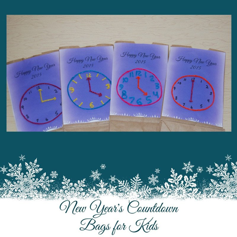 New Year's Count Down Bags for Kids