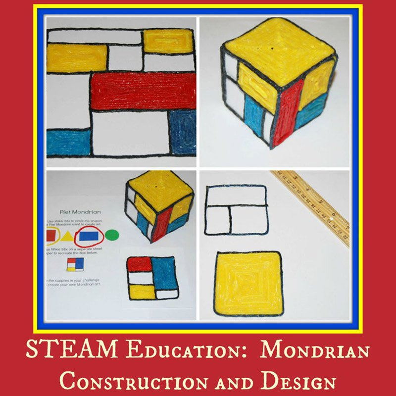 STEAM Education:  Mondrian Construction and Design for Kids