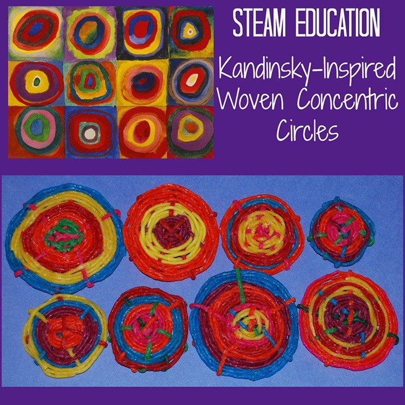 STEAM Education – Kandinsky-Inspired Woven Concentric Circles