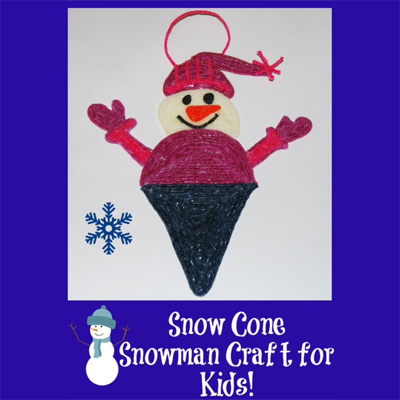 Snow Cone Snowman Craft for Kids