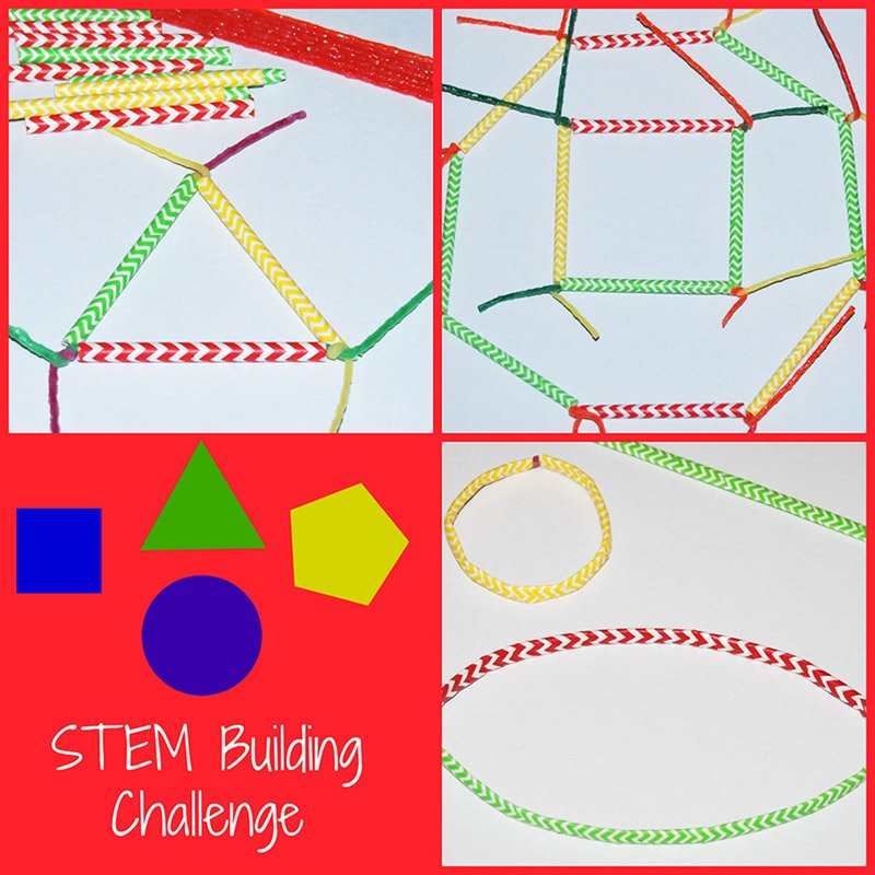 Wikki Stix STEM Shapes Building Challenge