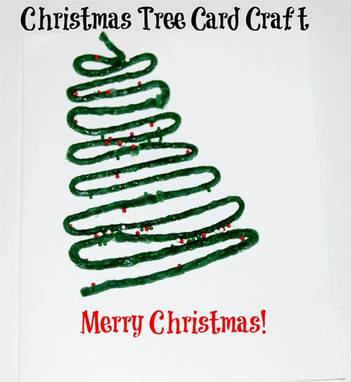 Christmas Tree Card Craft for Kids!