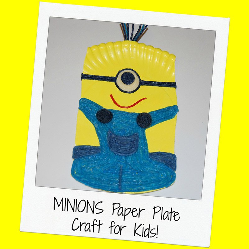 Wikki Stix Minions Paper Plate Craft for Kids