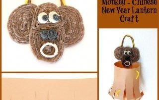 Chinese New Year Monkey Lantern Craft for Kids