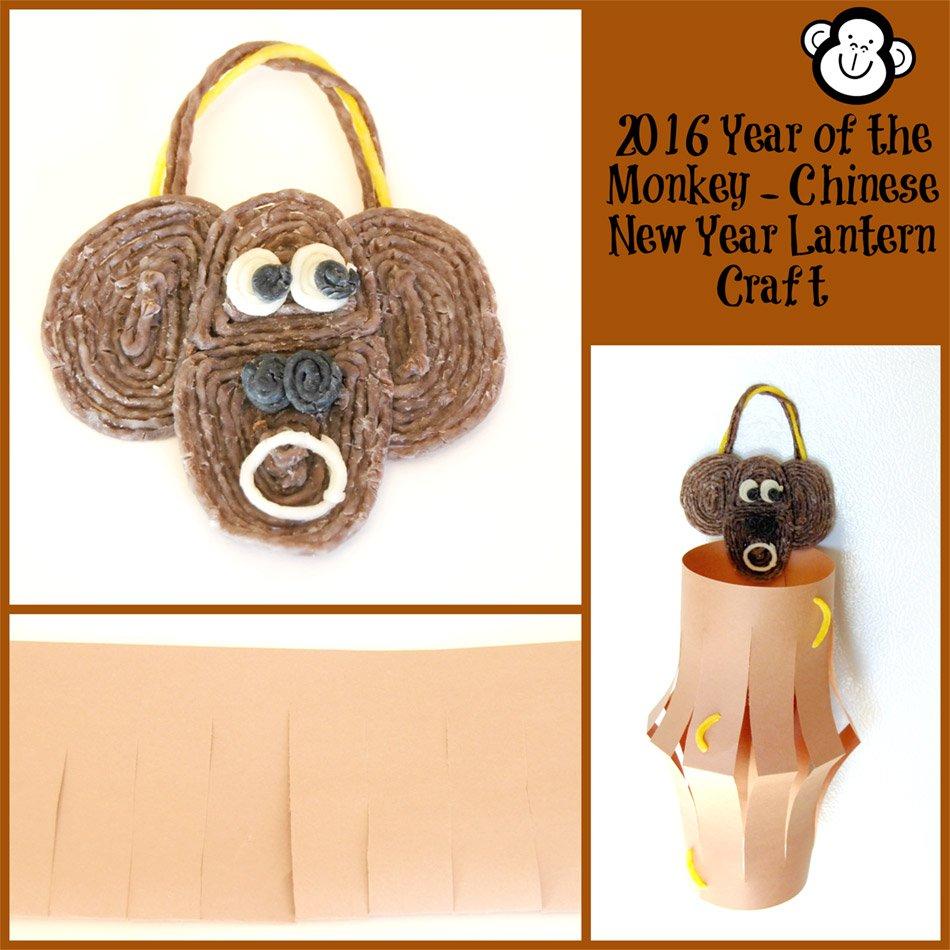 Chinese New Year Monkey Lantern Craft