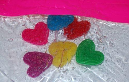 Wikki Stix Floating Hearts Sensory Bag for Young Kids