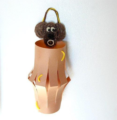 Monkey Chinese Lantern Craft