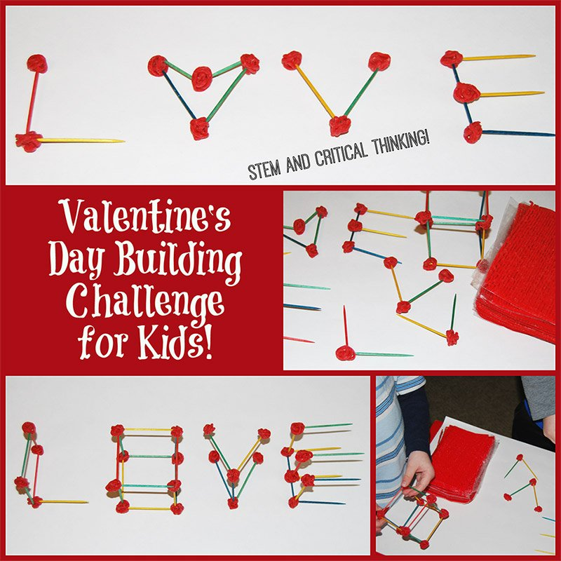 Valentine?s Day STEM Building Challenge for Kids!