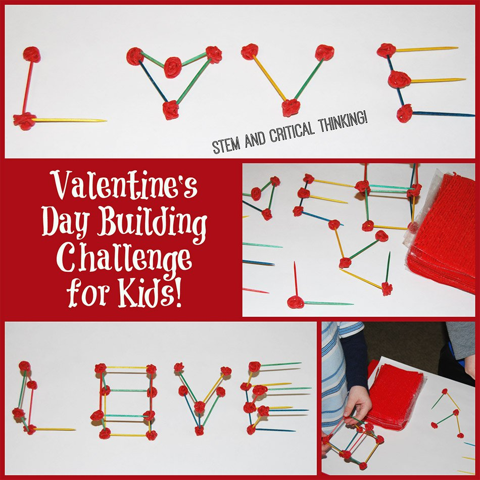 The day of LOVE and FRIENDSHIP can be exciting for kids with the Valentine's Day STEM Word Building Challenge from Wikki Stix! With just 2 simple supplies, kids can incorporate STEM learning (Science, Technology, Engineering, and Math) into everyday play. Encourage your own kids to use critical thinking skills in a FUN challenge this Valentine's Day!
