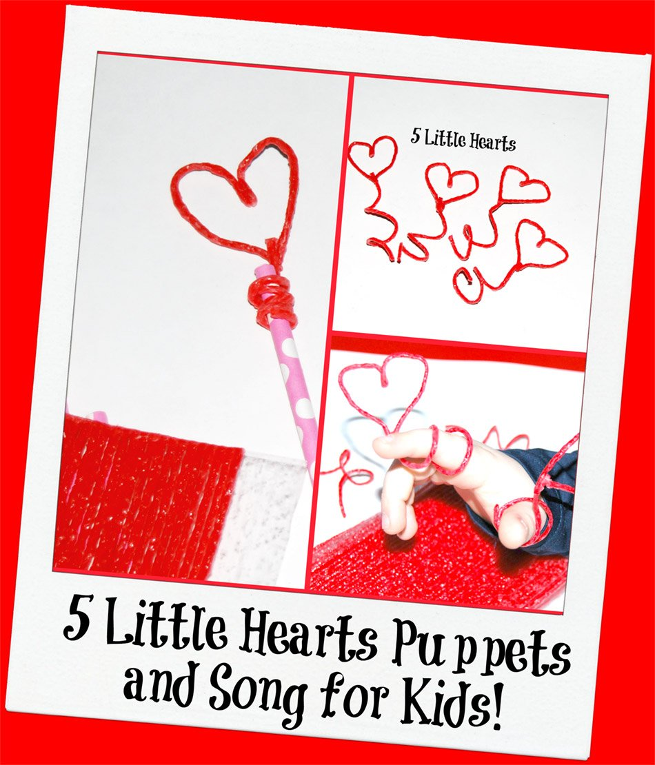 Heart Puppets and Song to Encourage Early Literacy and Math!