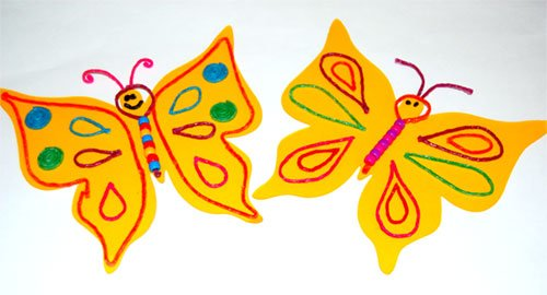 Bubble Wand Butterflies with Wikki Stix