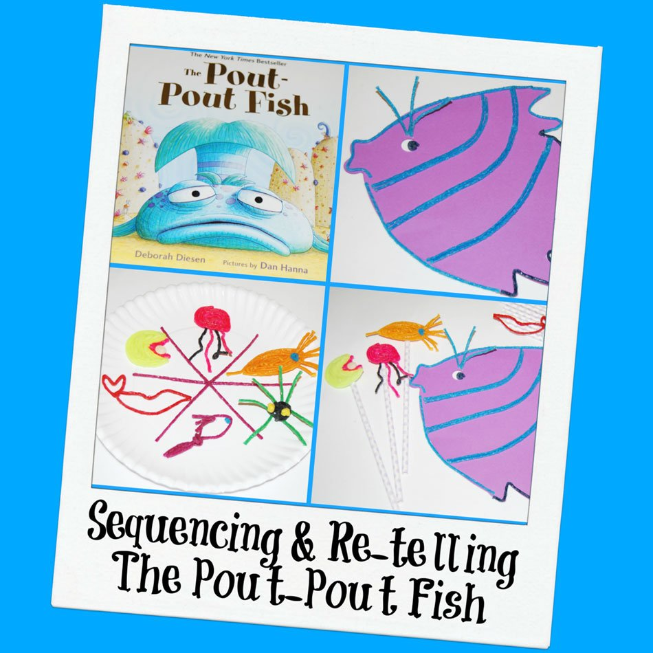 the pout pout fish sequencing and re telling activities for kids