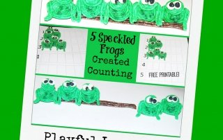5 Little Speckled Frogs and Counting Activities for Preschoolers!