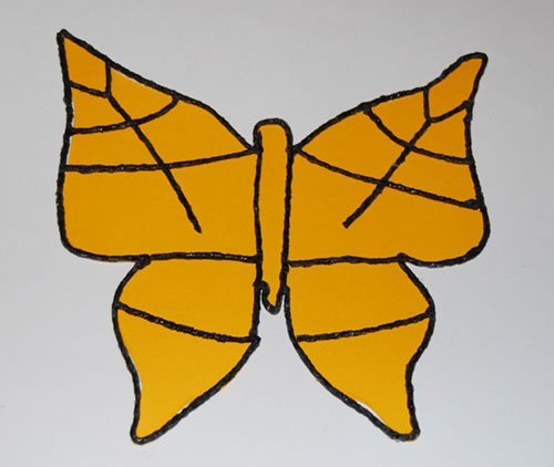 Stained Glass Inspired Butterfly Template