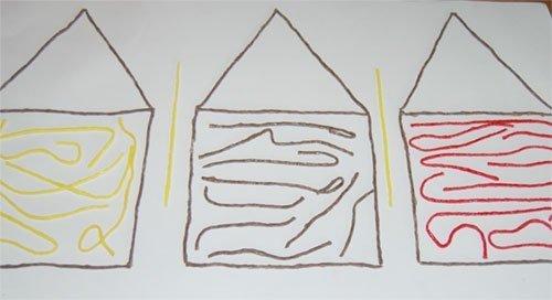 Wikki Stix 3 Little Pigs House Construction