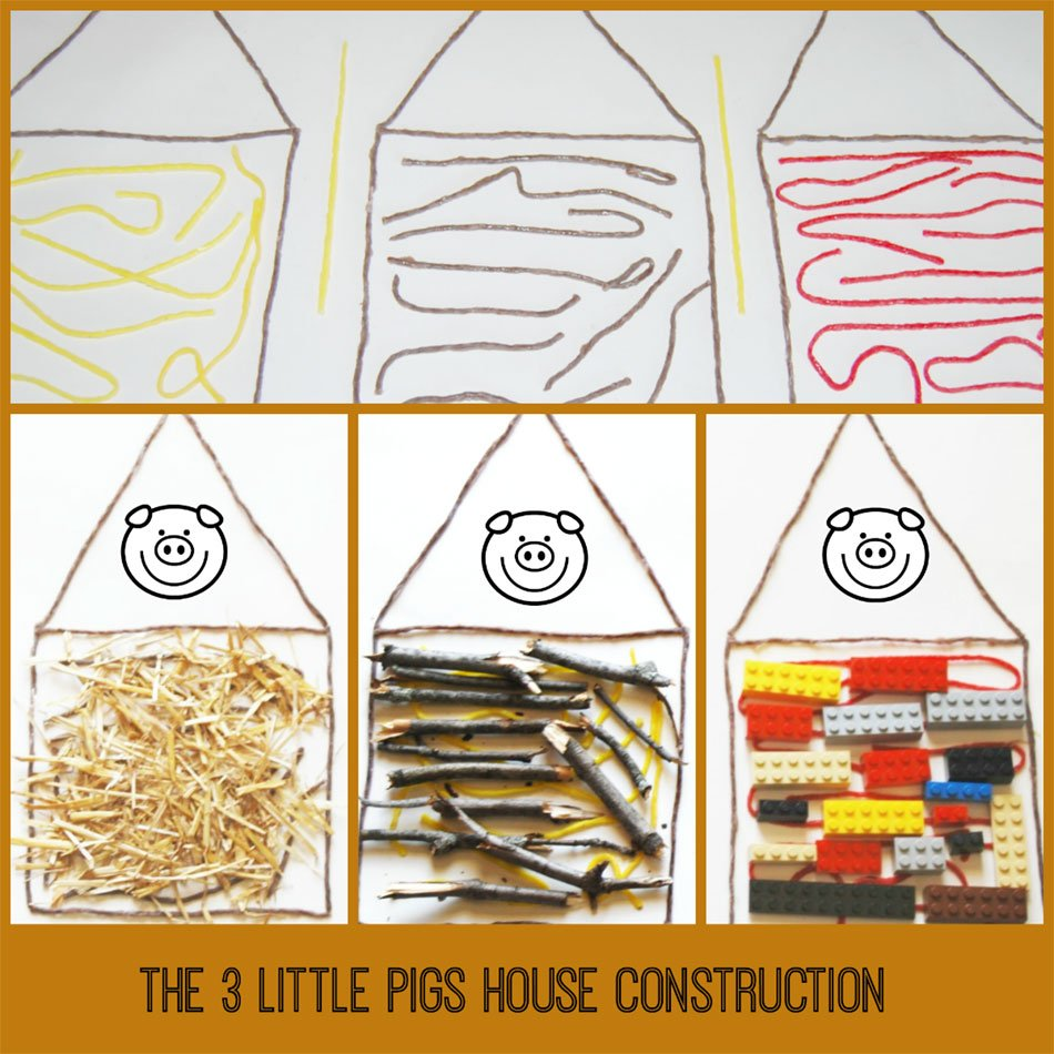 The Three Little Pigs Invitation to Create Houses