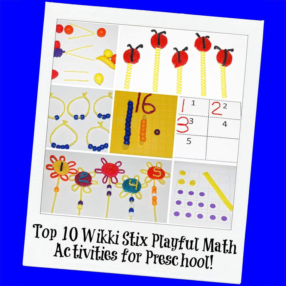 Top 10 Wikki Stix Playful Math Activities for Preschool!