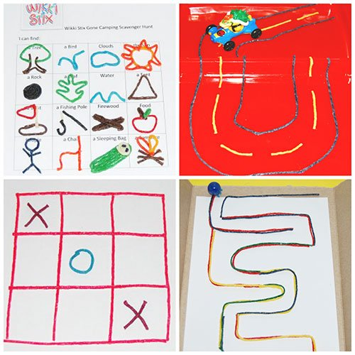 Stress-Free Summer GAMES to Create with Wikki Stix!