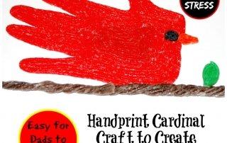 Wikki Stix Handprint Cardinal Craft for Dads and Kids to Create!
