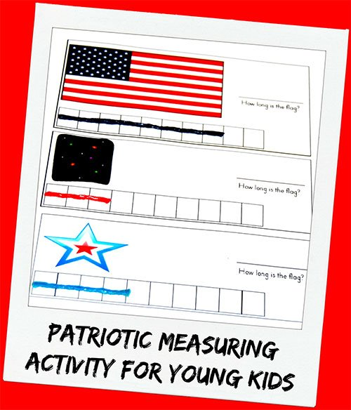 Patriotic Measuring Activity for Young Kids!