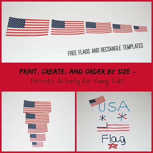 Patriotic Size Sorting Activity for Young Kids!