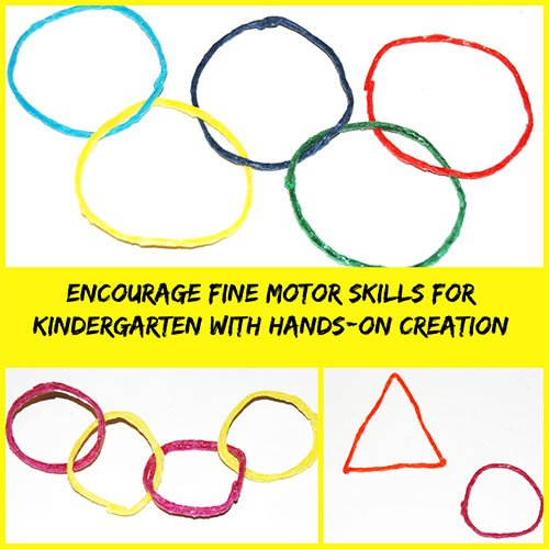 Fine Motor Shapes Creations