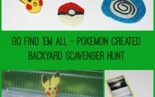 Pokémon Backyard Scavenger Hunt for Kids!