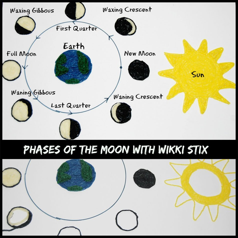 Phases Moon Learning Craft Kids on Sunlight Worksheet Kindergarten