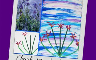 Simple Mixed Media Iris Art for Kids