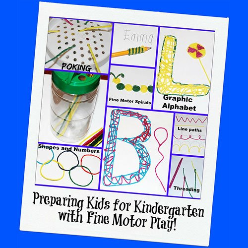 Preparing for Kindergarten with Fine Motor Play Ideas