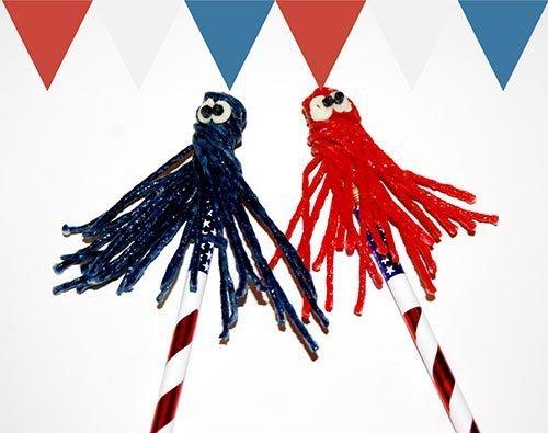 "Patriotic ""Monster"" Pencil Topper Crafts for Kid"