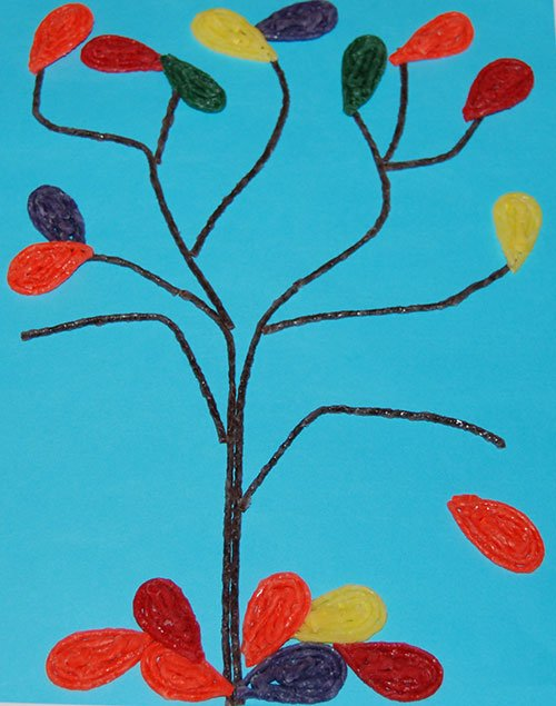 Simple Fine Motor Fall Tree Craft for Kids