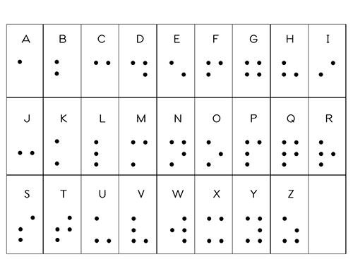 Declarative image regarding braille alphabet printable
