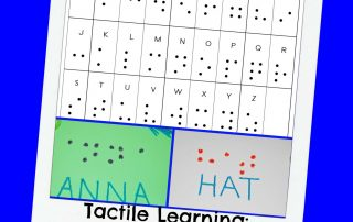 Creating the Braille Alphabet with Kids