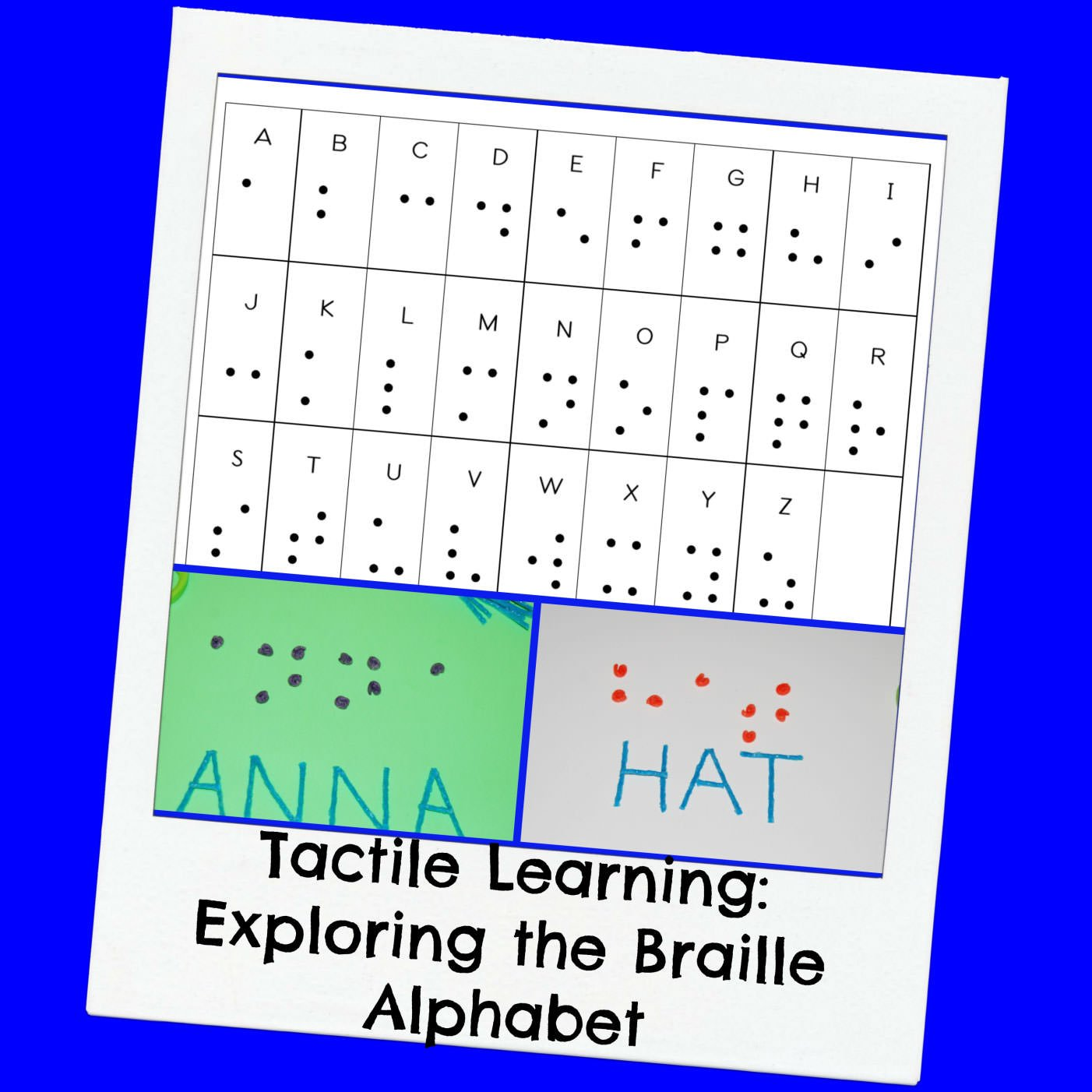 Tactile Learning: Creating the Braille Alphabet with Kids | Wikki Stix