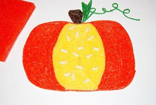 Wikki Stix Created Pumpkin Craft