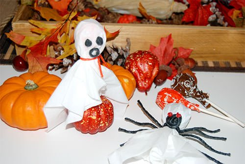 Halloween Ghost and Spider Pop Crafts for Kids