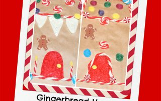 Gingerbread House Brown Bag Crafts for Kids!