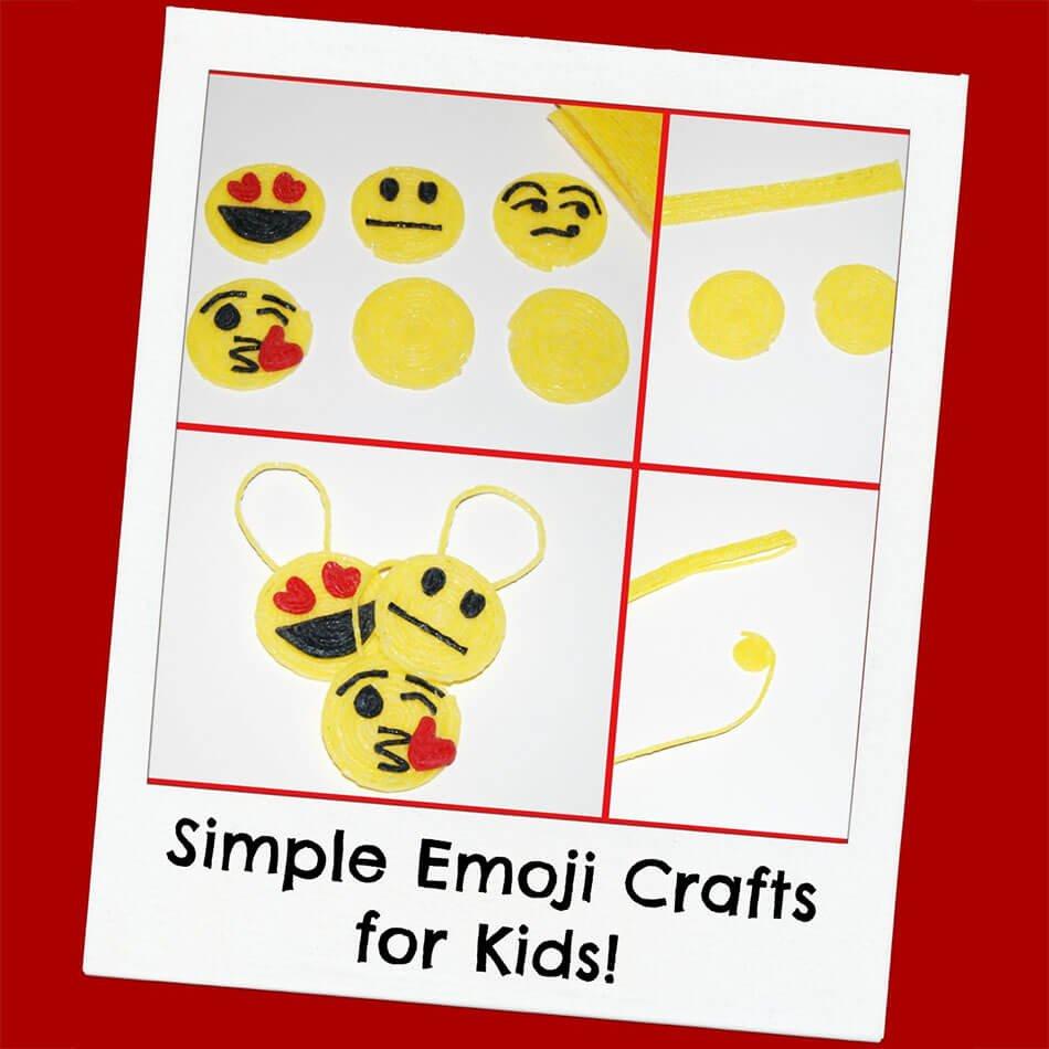 Wikki Stix Simple Emoji Crafts for Kids!