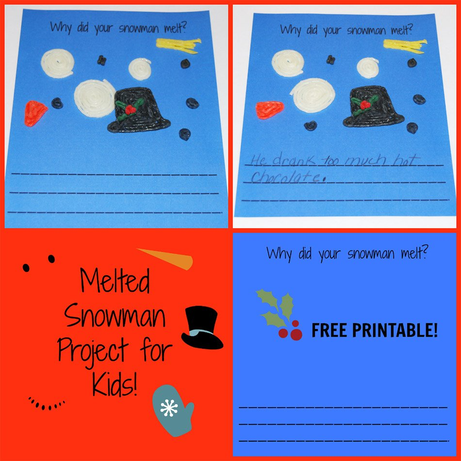 Melted Snowman Project for Kids