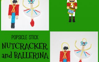 Nutcracker and Ballerina Ornament Crafts for Kids