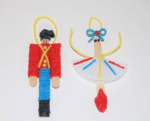 Nutcracker and Ballerina Ornament