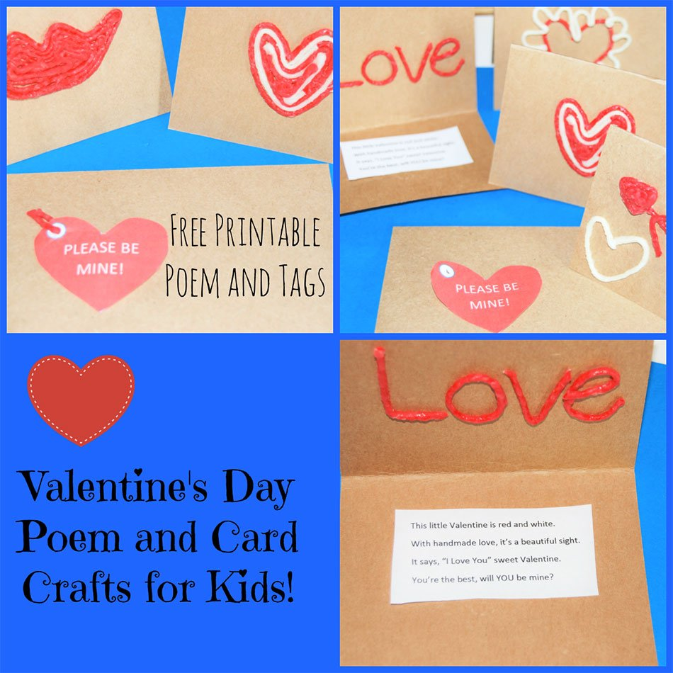 Valentine's Day Poem and Card Craft for Kids!