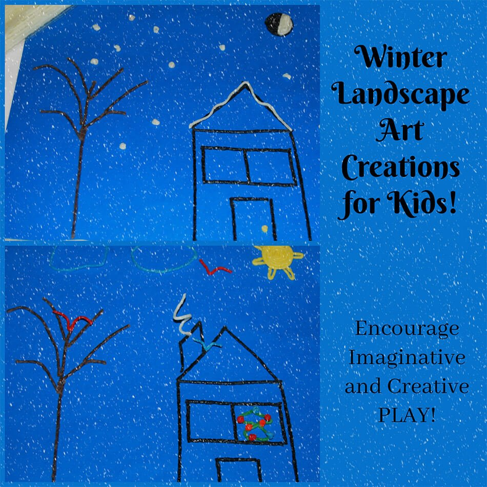 Winter Landscape Art Creations for Kids!