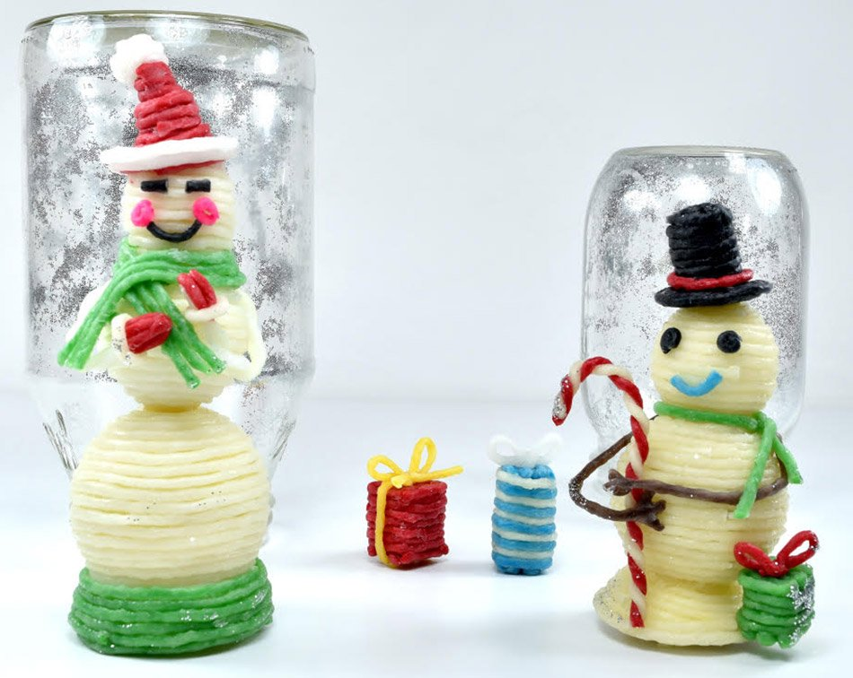 Snowman and Snow Globe Craft for Kids!